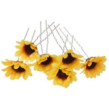 Sweet Wedding Party Bridal Prom Lady Girl Sunflower Hair Pins Clips Hair Decor