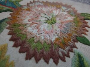antique hand embroidery Jacobean style