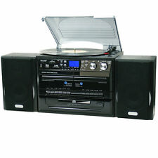 Home Entertainment System Stereo Hi Fi HiFi Turntable Cassette Player USB CD MP3