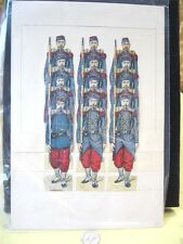 Vintage PAPER SOLDIER TOY Display,12 French Foot Soldier,C.1900
