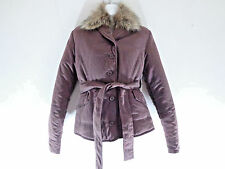 buffalo brown warm jacket with fur hoody wind breaker button down soft SZ M New