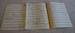 1956 ORIGINAL SAMMY DAVIS JR MR. WONDERFUL BROADWAY HANDWRITTEN MUSIC 100+ PAGES