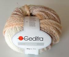 (90 €uro/kg): 750 g Gedifra CHANDRA, Fb. 7601 natur/lachs/flieder-Verlauf #1773