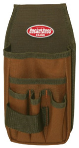 Bucket Boss Utility Tool Pouch with FlapFit in Brown, 54170