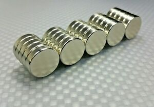 """25 Large Neodymium N42 disc magnets. Super Strong Rare Earth 1/2"""" x 1/8"""""""