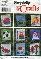 Simplicity Sewing Pattern 7612 Prairie Pastimes Appliqued Outdoor Lawn Flags