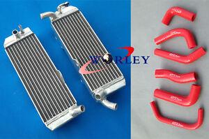 For Honda XR650 XR650R 2000-2007 00 01 02 03 04 05 aluminum radiator & hose RED