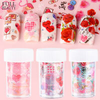 Manicure 3D Rose Flowers Transfer Decals Nail Stickers Polish Mixed Nail Foils