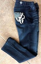 Rock & Republic Skynard Straight Leg Women's Jeans Sz 29 Dark ALNC Wash NEW $229