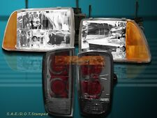 95-97 CHEVY S10/BLAZER LT LS EURO CRYSTAL HEADLIGHTS & SMOKE TAIL LIGHTS
