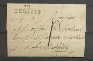 1792 Lettre Marque 12/PERTUIS BOUCHES DU RHONE Rare Superbe X5087