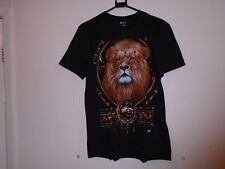 Le Lion T Shirt en NOIR deux côtés même photo M Taille Unisexe WILD T