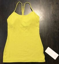 Lululemon Yellow Power Y Tank Yoga Racerback Workout Gym Top Size 6 NWT