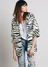 Free People Canvas Animal Jacket Blazer Zebra Medium Retails $148.00