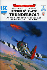WWII Fighter  Republic P-47D-25-RE THUNDERBOLT - Card Model Scale 1/24 JSC604