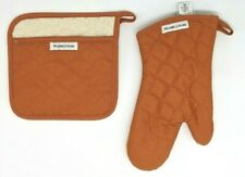 WILLIAMS SONOMA ~ POT HOLDER ~ OVEN MITT ~ PUMPKIN/ORANGE