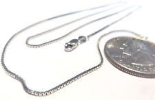 14K Pure Solid White Gold 18 inch 1MM BOX CHAIN - Lobster Lock..... Guaranteed!