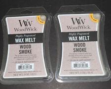 (2) WOODWICK Wax Melts WOOD SMOKE Scented / 3 Oz Each / Free Shipping