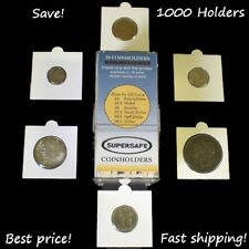 25 Self Adhesive Coin Flips 2.5X2.5 Holders 40mm For US Large Dollar Size Mylar