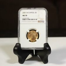 2001 W Capitol $5 Gold NGC MS70 ***Rev Tye's Stache*** #3003700