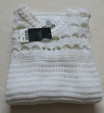 Next Jumpers/Sweater White Knit Sweater Size XS