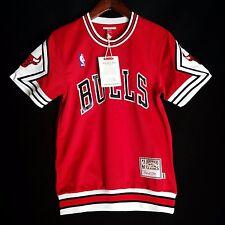 100% Authentic Bulls Mitchell & Ness Bulls Shooting Shirt Size 36 S - jordan