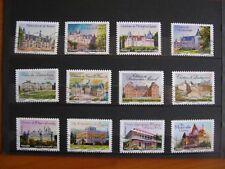 Série complète Chateaux  2012 (YT 726 à 737), 12 timbres