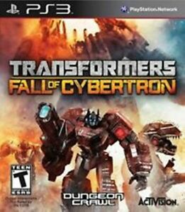 Transformers: Fall of Cybertron PS3 VERY GOOD FREE POST + TRACK INC MANUAL MINT!