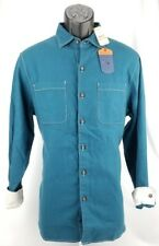 Tommy Bahama Shirt Sea Glass Flannel Summer Night Blue Teal New 3XL $118