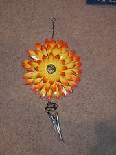 3D Metal Flower Wind Chime Garden Decoration Porch Patio ~- New ~ Orange Yellow