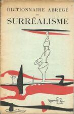 RARE EO 1938 ANDRÉ BRETON & PAUL ÉLUARD : DICTIONNAIRE ABRÉGÉ DU SURRÉALISME