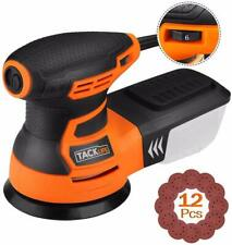 TACKLIFE Orbital Sander, 3.0A 5-Inch Random Orbit Sander with 12Pcs Sandpapers,