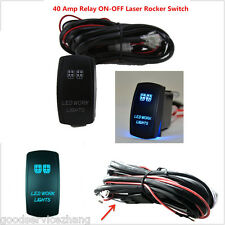 12V ON/OFF Switch+ Control Wiring Harness Kit Relay for LED Work Light 40 Am