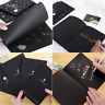 56K Black Paper Soft Cover Sketch Book Diary for Drawing Painting Graffiti Gift