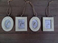 Set of 4 Mini Hanging Photo Frames, Classical Style Pale Cream, by Sass & Belle