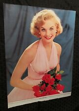 1950s PIN-UP Calendar Top 11x14.75 FN+ Blonde Pink Dress Roses Stars In Her Eyes