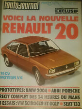 L'AUTO JOURNAL 1974 11 R20 VOLKSWAGEN SCIROCCO TS 24H DU MANS INDY 500 GP MONACO