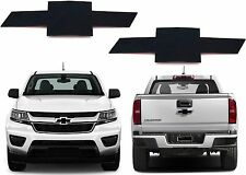 Front & Rear Black Billet Bowties For 2015-2017 Chevrolet Colorado New Free Ship