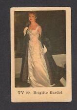 Brigitte Bardot 1960s Movie Film Card Look! from Sweden #TV99
