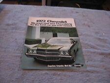 1972 Chevrolet Full Size Full Color Sales Brochure Bel Air Impala Caprice