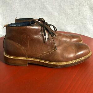 Cole Haan Grand Os Men's Size 9.5M Shoes Brown Leather Lace Up Chukka Oxfords