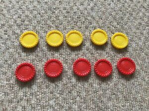 MB Connect 4 -  - 10 Spare Counters  - Original - 5 Yellow / 5 Red