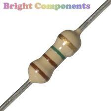 50 X 1m Ohm un resistor de carbono 1m resistencias) 1/4w - 1st Class Post