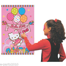 HELLO KITTY Balloon Dream PARTY GAME POSTER ~ Birthday Supplies Decorations Pink