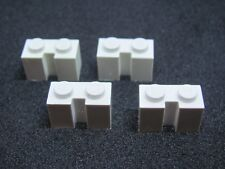 LEGO 4216 @@ Brick, Modified 1 x 2 Groove - White x 4 - 6384 6386 6597 7945