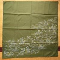 【FUROSHIKI】Nylon 100% JAPANESE VINTAGE SCARF, INTERIOR CLOTH, MADE IN JAPAN.