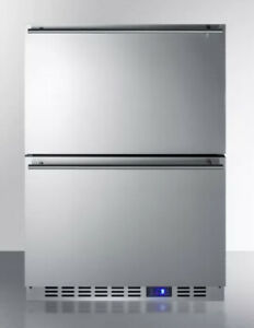 """New Summit SCFF532D 24""""  All Freezer 2 Drawer Stainless Steel Frost Free"""