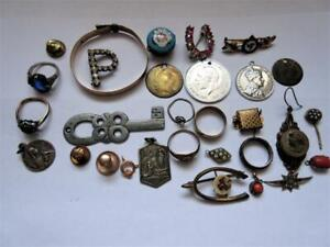 JOB LOT OF ANTIQUE EDWARDIAN & LATER JEWELLERY - Some Rolled Gold, 9ct on Silver