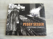 PEGGY SEEGER folk CD *SIGNED* Everything Changes autograph AUTOGRAPHED