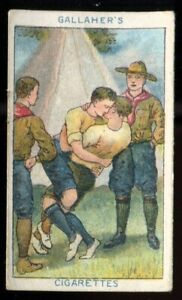 Tobacco Card, Gallaher, BOY SCOUT SERIES, Brown Back, 1911, Wrestling, #84